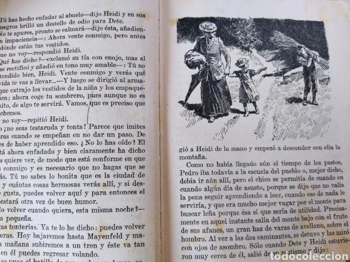 Libros antiguos: Heidi .Juana Spyri .2 edición 1931.Editorial Juventud - Foto 8 - 243605550