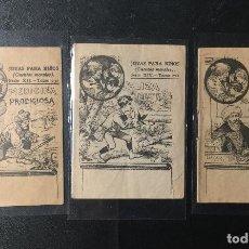 Libros antiguos: SATURNINO CALLEJA , LOTE DE 3 CUENTOS ANTIGUOS , JOYAS PARA NIÑOS .. Lote 244398830
