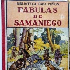 Libros antiguos: FABULAS DE SAMANIEGO. RAMON SOPENA, EDITOR. AÑO 1934. DE FÉLIX MARÍA SAMANIEGO.. Lote 245123515