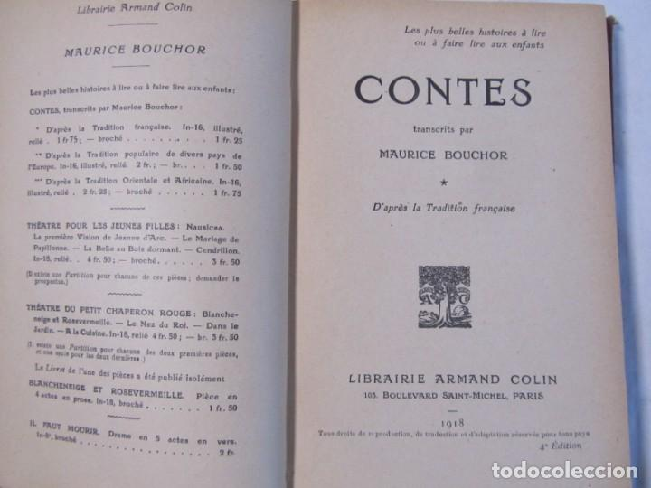 Libros antiguos: Contes (cuentos), Maurice Bouchor 1918, en francés - Foto 7 - 245979365