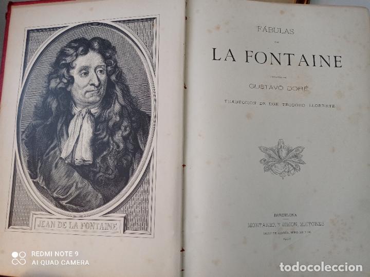 Libros antiguos: FABULAS DE LA FONTAINE, ILUSTRADO POR GUSTAVO DORÉ. MONTANER Y SIMON 1885. UNA JOYA. VER FOTOS - Foto 2 - 247236295