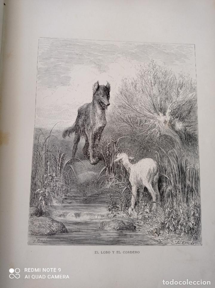 Libros antiguos: FABULAS DE LA FONTAINE, ILUSTRADO POR GUSTAVO DORÉ. MONTANER Y SIMON 1885. UNA JOYA. VER FOTOS - Foto 4 - 247236295