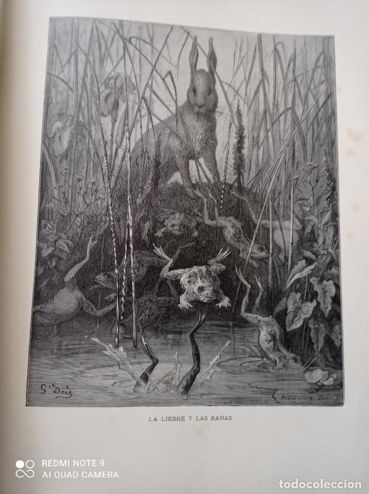 Libros antiguos: FABULAS DE LA FONTAINE, ILUSTRADO POR GUSTAVO DORÉ. MONTANER Y SIMON 1885. UNA JOYA. VER FOTOS - Foto 5 - 247236295