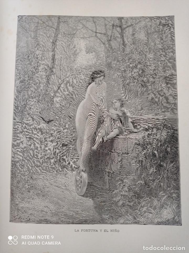 Libros antiguos: FABULAS DE LA FONTAINE, ILUSTRADO POR GUSTAVO DORÉ. MONTANER Y SIMON 1885. UNA JOYA. VER FOTOS - Foto 6 - 247236295