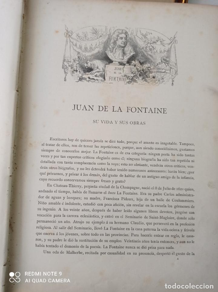 Libros antiguos: FABULAS DE LA FONTAINE, ILUSTRADO POR GUSTAVO DORÉ. MONTANER Y SIMON 1885. UNA JOYA. VER FOTOS - Foto 9 - 247236295