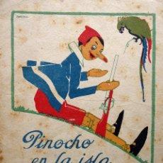 Libri antichi: RV-214.PINOCHO EN LA ISLA DESIERTA.. CUENTOS DE CALLEJA EN COLORES. AÑO 1919. DIBUJOS DE BARTOLOZZI.. Lote 252236935