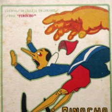 Libri antichi: RV-218. PINOCHO EN PAIS D LOS HOMBRES GORDOS. CUENTOS D CALLEJA EN COLORES. 1920. DIBUJOS BARTOLOZZI. Lote 252237645