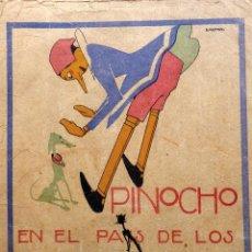 Libri antichi: RV-220.PINOCHO EN PAIS D LOS HOMBRES FLACOS. CUENTOS D CALLEJA EN COLORES. 1920. DIBUJOS BARTOLOZZI. Lote 252237795