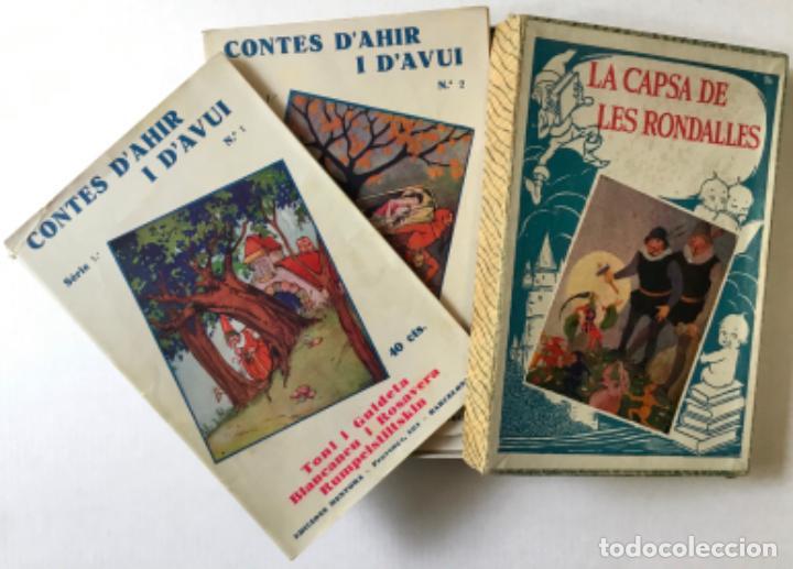 Libros antiguos: LA CAPSA DE LES RONDALLES. CONTES DAHIR I DAVUI. - SERRA BOLDÚ, Valeri. - Foto 2 - 123247663