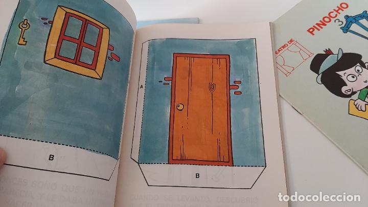 Libros antiguos: LOTE RECORTABLES CUADERNO EL TEATRO DE PINOCHO EN TALLER DE GEPETTO WALT DISNEY CUENTO VIVO 1986 - Foto 2 - 257622245
