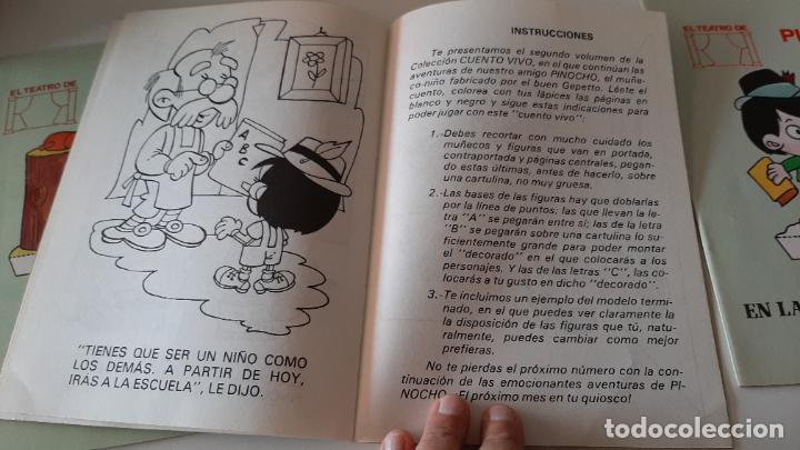 Libros antiguos: LOTE RECORTABLES CUADERNO EL TEATRO DE PINOCHO EN TALLER DE GEPETTO WALT DISNEY CUENTO VIVO 1986 - Foto 4 - 257622245