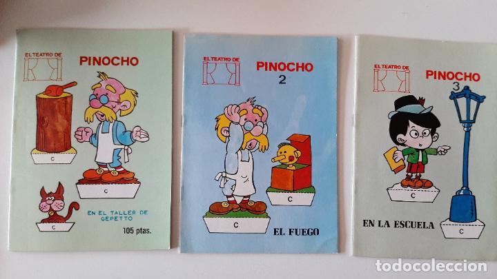 LOTE RECORTABLES CUADERNO EL TEATRO DE PINOCHO EN TALLER DE GEPETTO WALT DISNEY CUENTO VIVO 1986 (Libros Antiguos, Raros y Curiosos - Literatura Infantil y Juvenil - Cuentos)