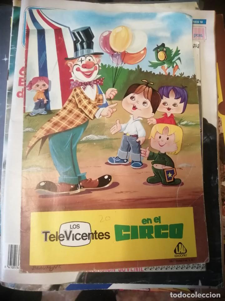 CUENTO LOS TELEVICENTES EN EL CIRCO - EDICIONES LAU - AÑO 1976 (Libros Antiguos, Raros y Curiosos - Literatura Infantil y Juvenil - Cuentos)