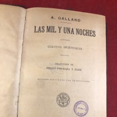 Libros antiguos: LAS MIL Y UNA NOCHES CUENTOS ORIENTALES. Lote 261712870