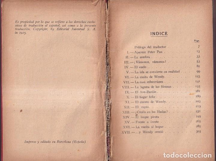 Libros antiguos: PETER PAN Y WENDY - J. M. BARRIE - MABEL LUCIE ATTWELL - ED. JUVENTUD 1925 PRIMERA EDICIÓN - Foto 3 - 262180915