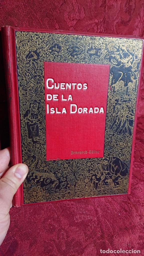 Libros antiguos: HERMOSO LIBRO CUENTOS DE LA ISLA DORADA - BIBLIOTECA DE LOS NIÑOS - ILUSTRADO POR JUAN JUNCEDA - - Foto 2 - 262206235