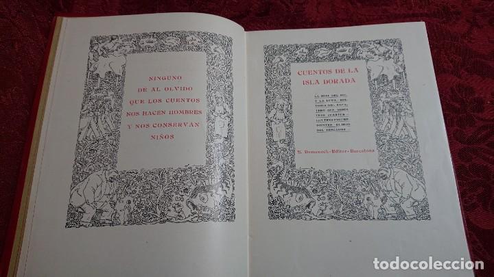 Libros antiguos: HERMOSO LIBRO CUENTOS DE LA ISLA DORADA - BIBLIOTECA DE LOS NIÑOS - ILUSTRADO POR JUAN JUNCEDA - - Foto 5 - 262206235