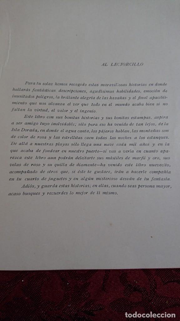 Libros antiguos: HERMOSO LIBRO CUENTOS DE LA ISLA DORADA - BIBLIOTECA DE LOS NIÑOS - ILUSTRADO POR JUAN JUNCEDA - - Foto 6 - 262206235