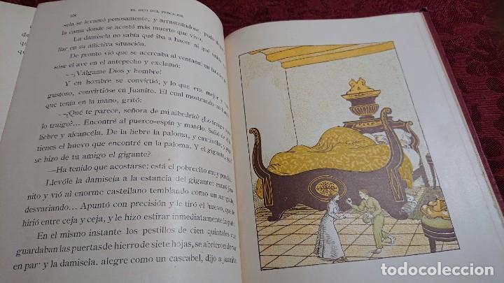 Libros antiguos: HERMOSO LIBRO CUENTOS DE LA ISLA DORADA - BIBLIOTECA DE LOS NIÑOS - ILUSTRADO POR JUAN JUNCEDA - - Foto 12 - 262206235