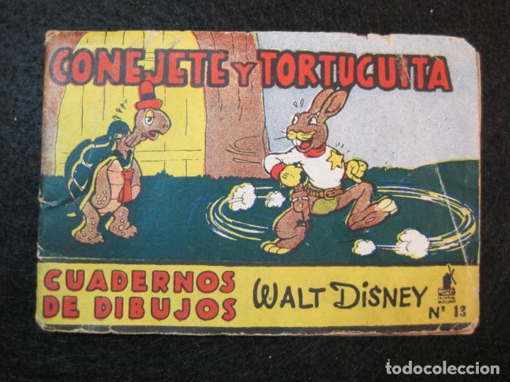 Libros antiguos: WALT DISNEY-CONEJETE Y TORTUGUITA-CUADERNOS DE DIBUJO Nº 13-EDITORIAL MOLINO-VER FOTOS-(80.801) - Foto 2 - 264077830