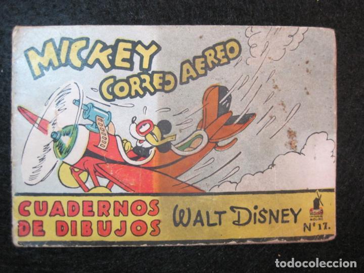 Libros antiguos: WALT DISNEY-MICKEY CORREO AEREO-CUADERNOS DE DIBUJO Nº 17-EDITORIAL MOLINO-VER FOTOS-(80.802) - Foto 2 - 264078000