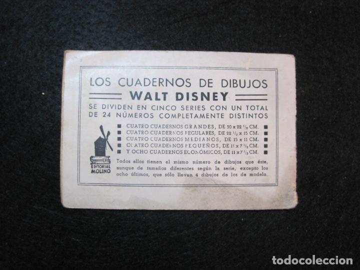 Libros antiguos: WALT DISNEY-MICKEY CORREO AEREO-CUADERNOS DE DIBUJO Nº 17-EDITORIAL MOLINO-VER FOTOS-(80.802) - Foto 8 - 264078000