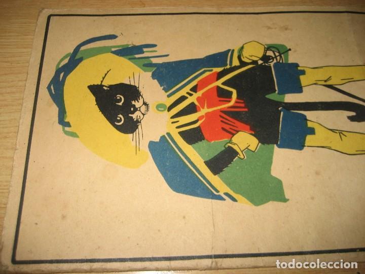 Libros antiguos: cuento en postales el gato con botas . ed calleja . 9 postales . año 1930 - Foto 2 - 264785794