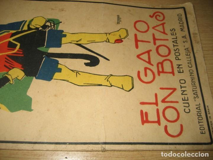 Libros antiguos: cuento en postales el gato con botas . ed calleja . 9 postales . año 1930 - Foto 3 - 264785794