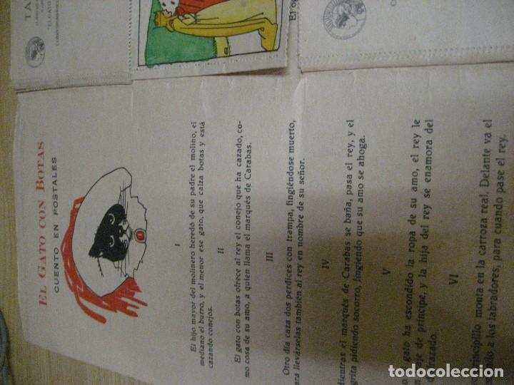 Libros antiguos: cuento en postales el gato con botas . ed calleja . 9 postales . año 1930 - Foto 5 - 264785794