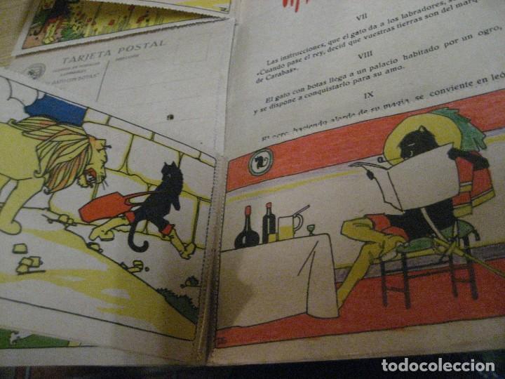 Libros antiguos: cuento en postales el gato con botas . ed calleja . 9 postales . año 1930 - Foto 7 - 264785794