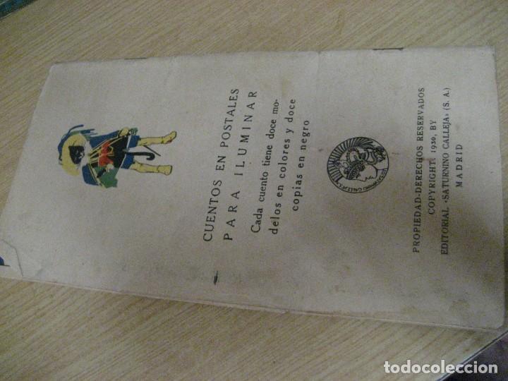 Libros antiguos: cuento en postales el gato con botas . ed calleja . 9 postales . año 1930 - Foto 8 - 264785794