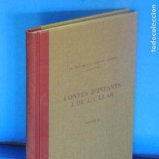 Libros antiguos: CONTES D'INFANTS I DE LA LLAR.- LL. JACOB I G. CARLES GRIMM. Lote 271581093