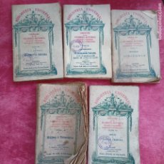 Libros antiguos: LOTE 5 LIBRITOS BIBLIOTECA UNIVERSAL PRINCIPIOS S.XX COLECCIÓN DE LOS MEJORES AUTORES. Lote 274834178