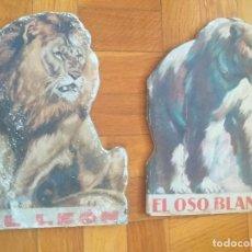 Libros antiguos: LOTE 2 CUENTOS TROQUELADOS ANTIGUOS: LEON Y OSO BLANCO - EDITORIAL ARALUCE AÑO 1942. Lote 276597823