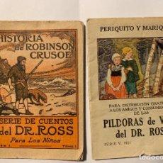 Libros antiguos: SERIE DE CUENTOS DR. ROSS. SERIE 1 Y 5. Lote 277241018