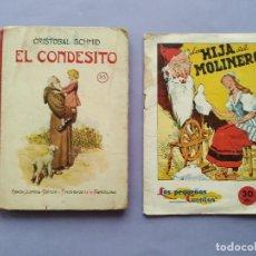 Libros antiguos: LOTE 2 CUENTOS EL CONDESITO EDITORIAL SOPENA LA HIJA DEL MOLINERO PEQUEÑOS CUENTOS PUBLICIDA POCHOLO. Lote 279464963