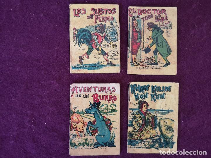 LOTE DE 4 ANTIGUOS LIBRITOS INFANTILES DE SATURNINO CALLEJA, MADRID, PUBLICIDAD PINOCHO AL REVERSO (Libros Antiguos, Raros y Curiosos - Literatura Infantil y Juvenil - Cuentos)
