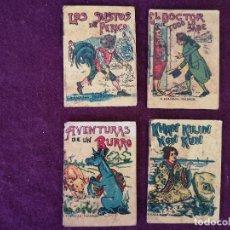Livros antigos: LOTE DE 4 ANTIGUOS LIBRITOS INFANTILES DE SATURNINO CALLEJA, MADRID, PUBLICIDAD PINOCHO AL REVERSO. Lote 287232618