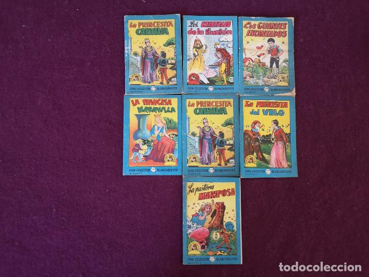 LOTE DE 7 ANTIGUOS LIBRITOS INFANTILES DE LA GRAN COLECCIÓN BLANCANIEVES, VARIOS NÚMEROS (Libros Antiguos, Raros y Curiosos - Literatura Infantil y Juvenil - Cuentos)