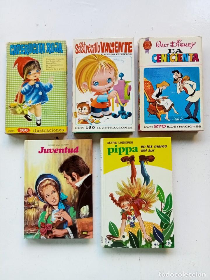 5 CUENTOS Y NOVELAS INFANTILES. BRUGUERA, JUVENTUD Y FHER. AÑOS 70. CENICIENTA PRIMERA EDICIÓN. (Libros Antiguos, Raros y Curiosos - Literatura Infantil y Juvenil - Cuentos)