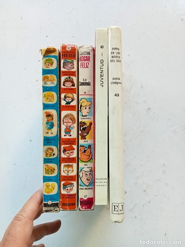 Libros antiguos: 5 cuentos y novelas infantiles. Bruguera, Juventud y Fher. Años 70. Cenicienta primera edición. - Foto 4 - 287378473