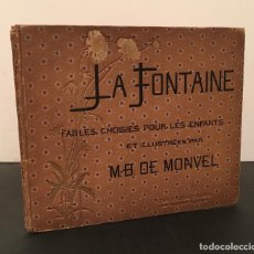 Livros antigos: CUENTOS INFANTIL FABULAS FABLES LA FONTAINE ILUSTRACIONES BOUTET DE MONVEL. Lote 287465183