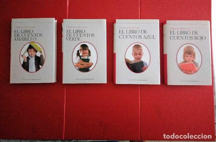 EL LIBRO DE CUENTOS ANDREW LANG COMPLETO 4 TOMOS CUENTOS VERDE-AMARILLO-AZUL-ROJO (Libros Antiguos, Raros y Curiosos - Literatura Infantil y Juvenil - Cuentos)