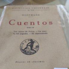 Libros antiguos: CUENTOS HOFFMANN 1924. Lote 292044073