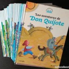 Libros antiguos: LIBROS MIS PRIMEROS CLASICOS CUENTOS ILUSTRADOS SANTILLANA EL QUIJOTE, EL JOROBADO DE NOTRE DAME. Lote 292206348