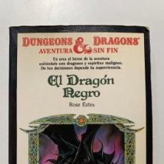Libros antiguos: DUNGEONS & DRAGONS Nº 07 EL DRAGÓN NEGRO LIBRO-JUEGO DE TIMUN MAS. Lote 295591328