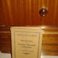 Libros antiguos: INTRODUCCIÓN AL DERECHO MERCANTIL COMPARADO. Lote 6445282