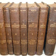 Libros antiguos: EL ABOGADO POPULAR. CONSULTAS PRACTICAS. PEDRO HUGET CAMPAÑA. Lote 30142251