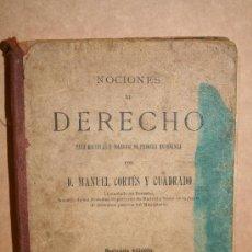 Libros antiguos: NOCIONES DE DERECHO. Lote 27311606