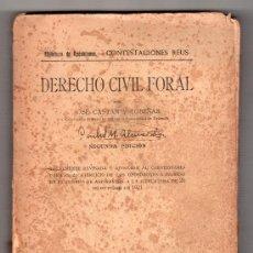Libros antiguos: DERECHO CIVIL FLORAL POR JOSE CASTAN Y TOBEÑAS. EDITORIAL REUS MADRID 1932. 2ª ED.. Lote 14283141